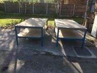 Heavy industrial work tables