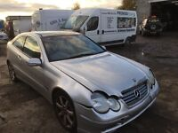Mercedes c180 petrol spare parts available bumper bonnet light wing door wheels