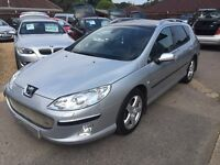 2005/05 PEUGEOT 407 SW 2.0 DIESEL HDI EXECUTIVE 5DR ESTATE TOP SPEC FULL LEATHER,LOOKS& DRIVES WELL