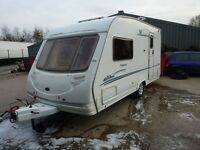 Sterling Eccles Topaz Touring Caravan &FREE Starter Pack