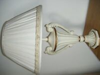 Traditional ivory colour table lamp