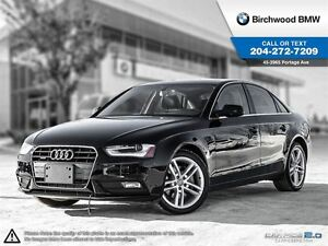 2013 Audi A4 Premium Quattro! Local Car 1 Owner!