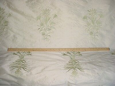 10+Y Cowtan & Tout Somerset Woodland Floral Embroidered Silk Upholstery Fabric