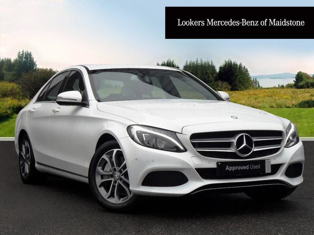 Mercedes benz c class c350 e sport white 2015 12 10 in for Mercedes benz c class white