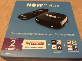 BRAND NEW Now TV Box - HD Digital Media Streamer iPlayer All4 itv player etc
