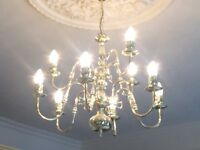 Chandelier, 9 bulb, elegant, traditional style