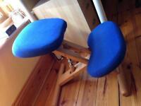 Wooden kneeling stool