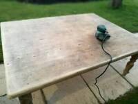 Very large rustic wood coffee table