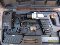 24v rotery hammer drill. takes SDS drill bits and normal drill bits.