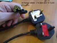 2x Laptop cables