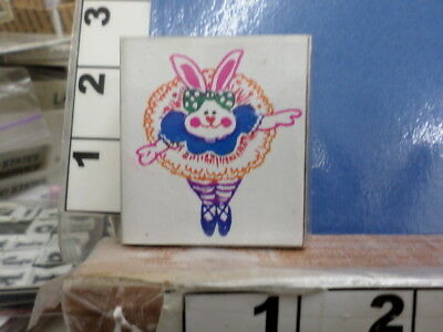 Easter bunny with ballet slippers   RUBBER STAMP 34U