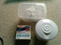 Cold sterilisation kit and bottles