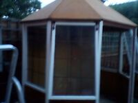 8x6 octagonal summerhouse two opening lead dressed windows open front high roof solid structure