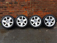 Saab alloy wheels & good tyres 215/45 R17