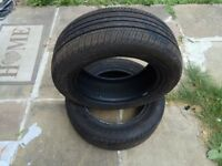 2x Tyres Ovation VI-682 Ecovision 195/50 R15 82V (Almost NEW)