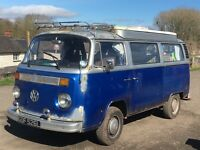 VW Late bay camper van with devon pop top