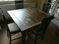 Pull out dining table and chairs