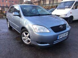 03 Toyota Corolla -T3 d4d - alloy wheels - one year mot - two keys