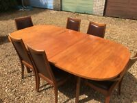 G-Plan 6 Seater Solid Teak Dining table - extendable