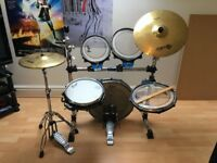 Traps A400 Acoustic Drum Kit & Cymbals - very portable & great for new starters