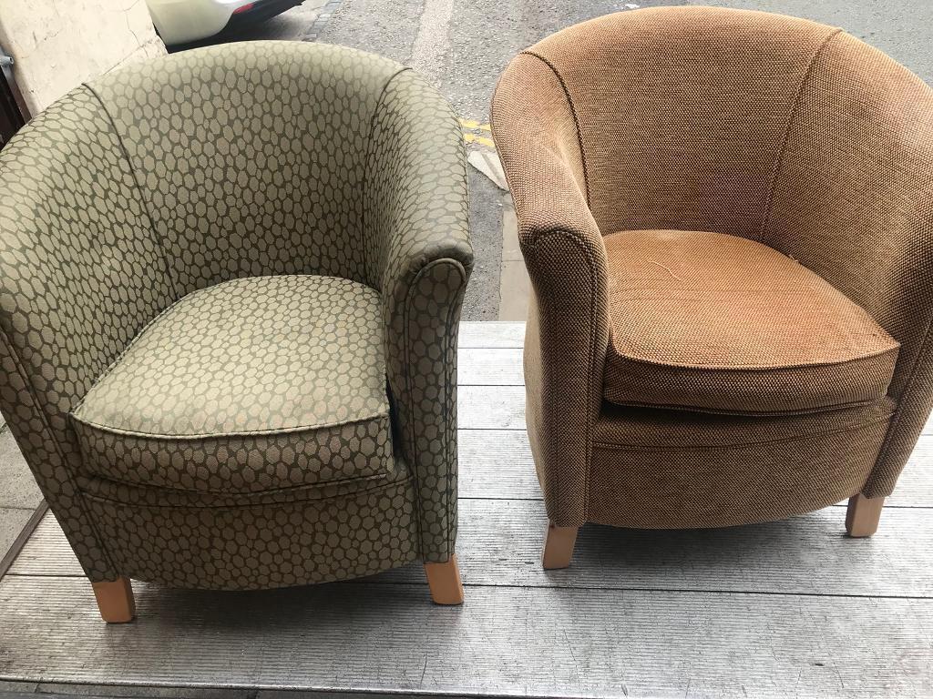 Fabric Tub Chairs   in Wavertree, Merseyside   Gumtree