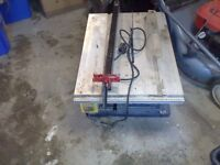 table saw with guides/guards ect