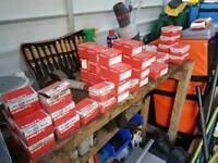 Hilti nails various sizes £5-£10 per box. Carriages available £6 per box