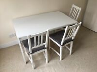 Ikea Melltorp Table and 3 Stefan Chairs