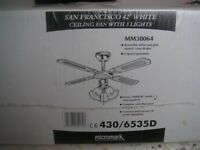 3 Light fitting Ceiling Fan - new in box