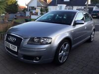 ***AUDI A3 S-LINE, SPORT BACK. FULL SERVICE HISTORY. FULL LEATHER. AUTOMATIC.