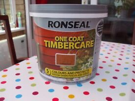RONSEAL ONE COAT TIMBERCARE PAINT HARVEST GOLD 5LITRE TINS