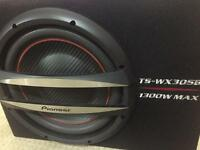 Pioneer subwoofer with amp, wires