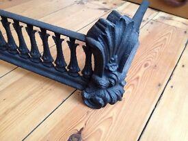 Cast Iron Black Ornate Fireplace Fireside Hearth Fender