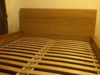 Ikea malm Double bed in a good condition (Free delivery see description)