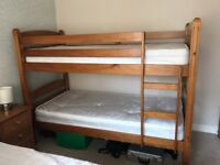Pine bunk beds in good condition. Mattress not included