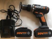 Worx 20v max lithium 4.0Ah comes with two batteries