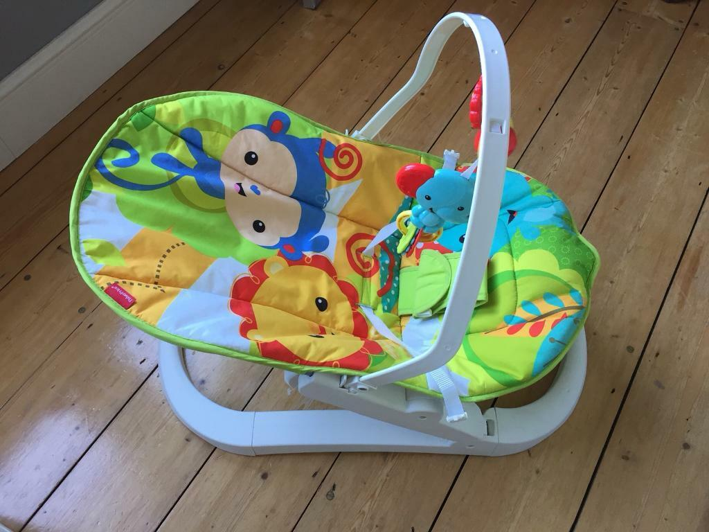 54c1494f5 2 images Fisher Price fun N fold vibrating baby bouncer. Pre loved ...