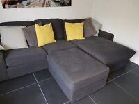 Large corner sofa amd foot stool