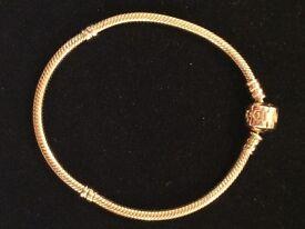 Pandora 14ct Gold Bracelet 19cm