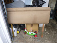 Double bed and mattress 4ft6 wide X 6ft long, with headboard.