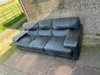 Black Leather Sofa *****FREE - needs to go ASAP..!!*****