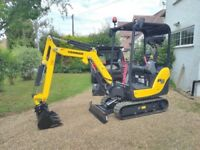 Mini 1.5t and Micro 0.8t Digger Hire