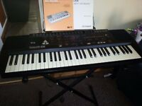 Roland E-28 Electronic Midi Piano Keyboard with Stand, Manual and PSU