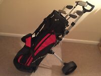 Young Gun Junior (9-11) half set/bag/trolley excellent condition plus 2 extra Nike clubs