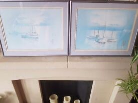 Original boats in the sea paintings