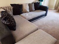Corner Fabric Sofa in Good Condition