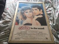 1970s original. Grease movie poster