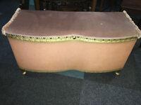 Very Nice Original Lloyd Loom Ottoman Blanket Box Storage Chest