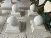 CONCRETE PIER CAP & BALL ~ NEW