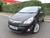 2014 BLACK VAUXHALL CORSA 1.2 SE LOW MILEAGE 27K YEAR MOT CHEAP TO RUN MINT CONDITION
